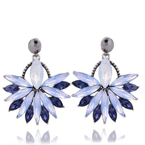 Women Fashion Jewelry Femmes élégant cristal Strass Ear Stud Boucles d/'oreilles pendantes