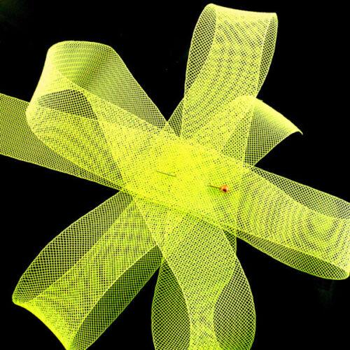 "Crinoline Trim 5 cm 2 yards Piece  2/"" Neon Yellow Horsehair Braid"