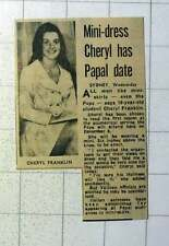 1970 19-year-old Student Cheryl Franklin Papal Audience In Miniskirt