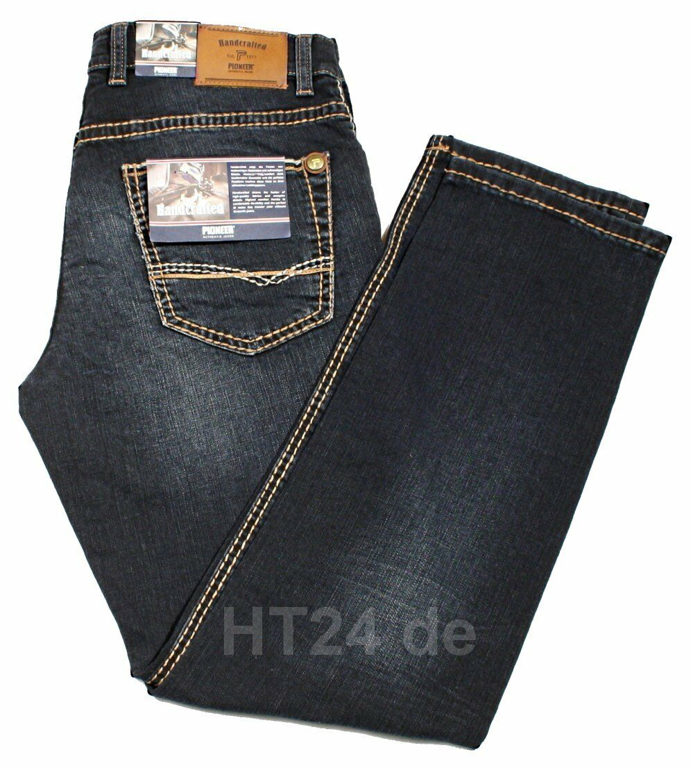 PIONEER Jeans Rando 1654 9822-443 DARK USED buffies Stretch handcrafted
