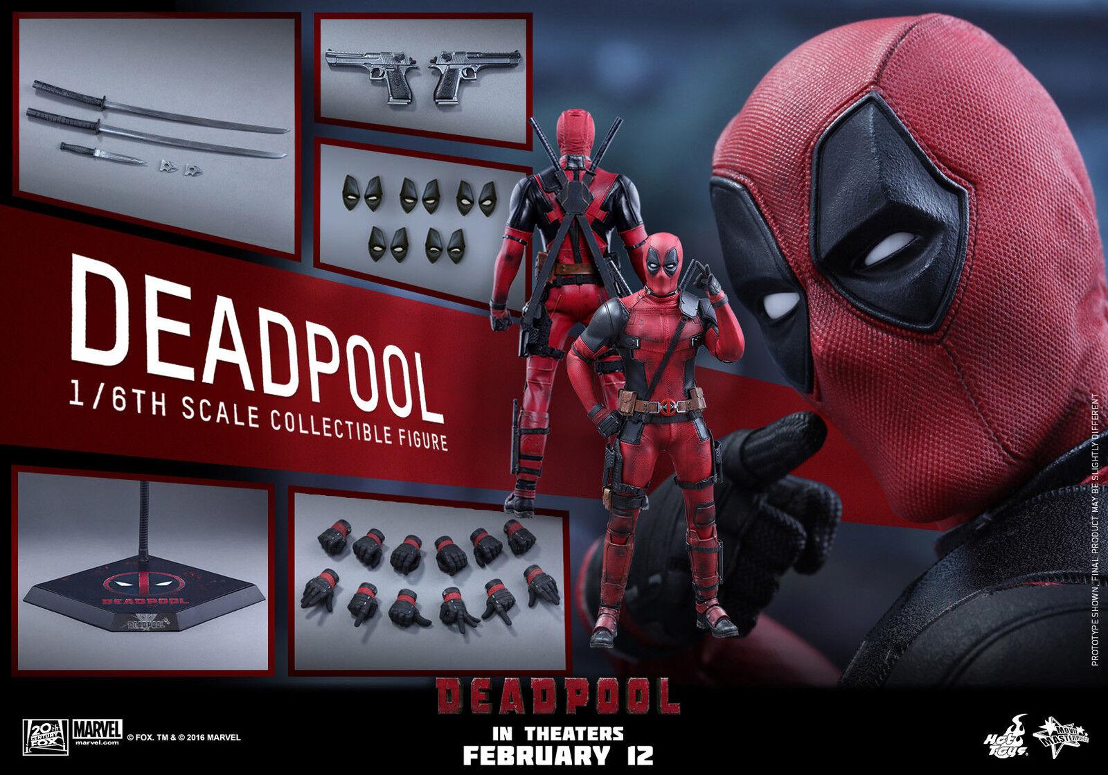 Hot Toys 1 6 Deadpool MMS347 Wade Wilson Ryan Reynolds Masterpiece Action Figure