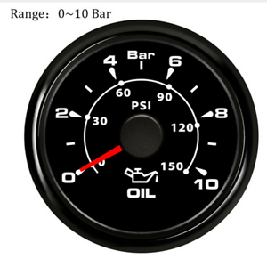 52mm-Marine-Oil-Pressure-Gauge-Car-Truck-Fuel-Pressure-Meter-0-10Bar-0-150psi