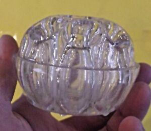Ancien-Vase-Pique-Fleur-en-Verre-Rond-Art-Deco-9-trous-N-3-REIMS-Glass-Bowl