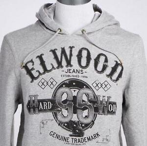 NEW-ELWOOD-Grey-hooded-jumper-sz-XL-XXL-mens-RRP-99-99