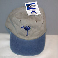 Youth Palm Tree & Moon Embroidered Cotton Ball Cap By Fahrenheit Headwear