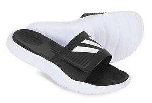 2e6583e3e Adidas Men Alpha-bounce Slipper Black Shoes Slide Flip-Flops GYM ...