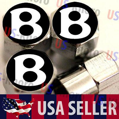 Bentley B Red Logo Valves Stems Caps Covers Chrome Wheel Roundel Tire Emblem USA