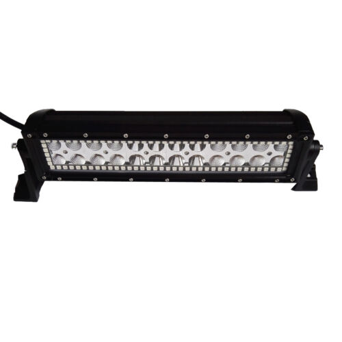 """72W 13.5"""" Offroad Led Light Bar with RGB Halo Ring Chasing 12//14/"""" For Jeep ATV"""
