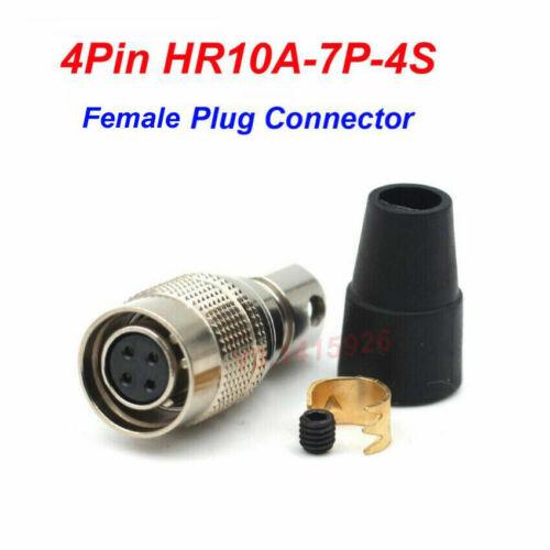 4Pin HR10A-7P-4S Female Plug Aviation Connector Industrial Camera Plug F Hirose