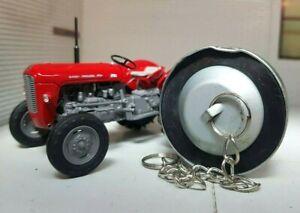 Massey Ferguson MF 35 35x 135 165 Perkins Engine Tractor Oil Filler Cap & Chain