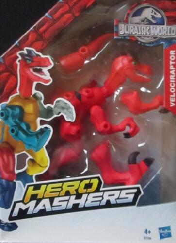 Jurassic World Velociraptor rot Hero Mashers Hasbro neu OVP