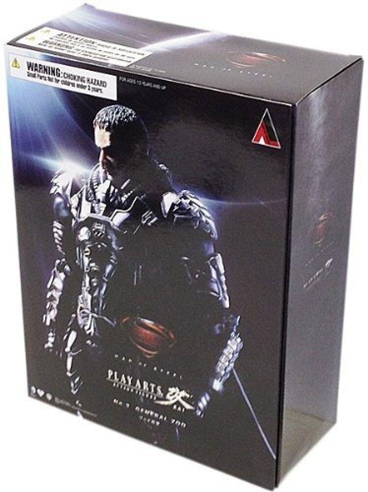 NIB Superman Man of Steel Play Arts Kai General Zod Figure Square Enix