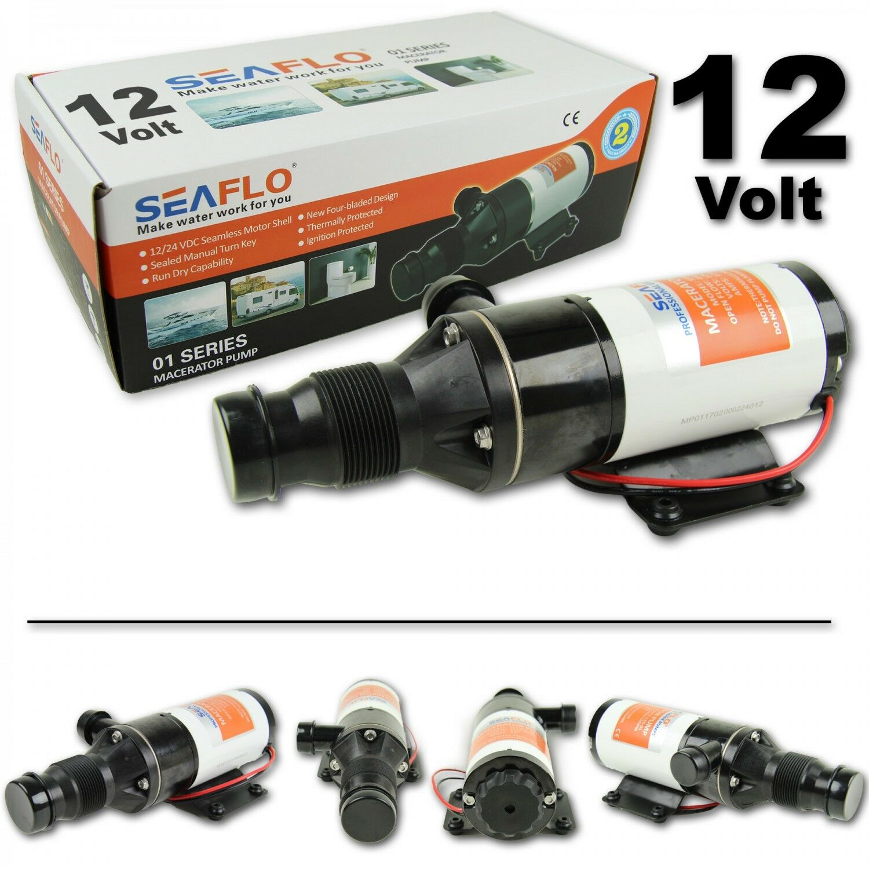 Seaflo Zerhackerpumpe 12 V Macerator Delle Acque Reflue Pompa 45 LMin Sporche