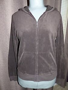 aa676fd24bf7 JUICY COUTURE Brown Zip-up Sweat Jacket Hoodie Size EXTRA LARGE GOOD ...