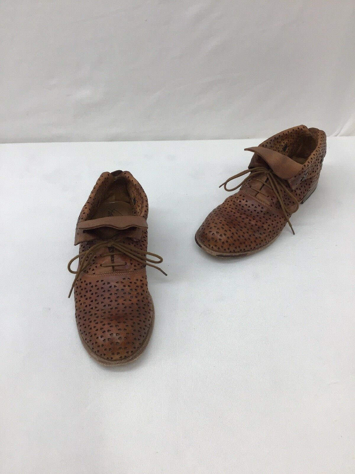 Patricia Nash Tan Leather Oxfords Size 8.5  H652 LS