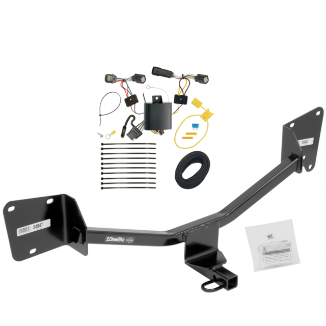 Trailer Hitch Tow Receiver W   Wiring Harness Kit For 17