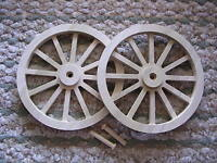 Wagon & Cannon Wheels - 8 Inch Diameter Poplar Wood - Revolutionary Civil War