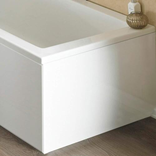 ICE 700mm Universal 1 Piece End Bath PanelWhite Gloss Coated MDF
