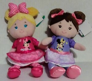 Babys-First-Doll-Soft-Toy-Wearing-Minnie-Mouse-Outfit-Crinkle-Ears-Discontinued