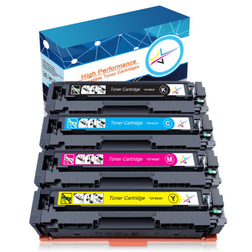 4Pk Toner CF400X 201X Color for HP LaserJet Pro MFP M277dw  M277n M252dw  M252n