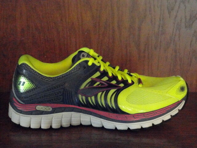 New Womens BROOKS GLYCERIN 11 Running Shoes YELLOW/GRAY/PINK