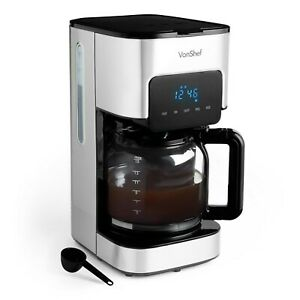 Details About Vonshef 15l Filter Coffee Maker Machine Instant 12 Cups Lcd Display Reusable