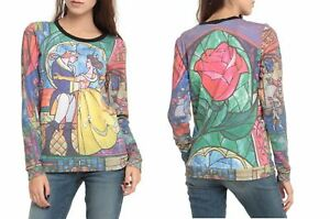 DISNEY-BEAUTY-AND-THE-BEAST-STAINED-GLASS-SUBLIMATION-SHIRT-TOP-BLOUSE-SWEATER