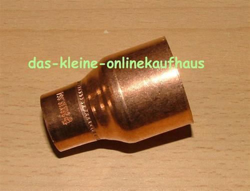 661# Kupfer Muffe reduziert //I-I//8x6mm //DVGW zug.
