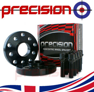 20mm Hubcentric Black Spacers 1 Pair + Bolts for Genuine VW Transporter Alloy