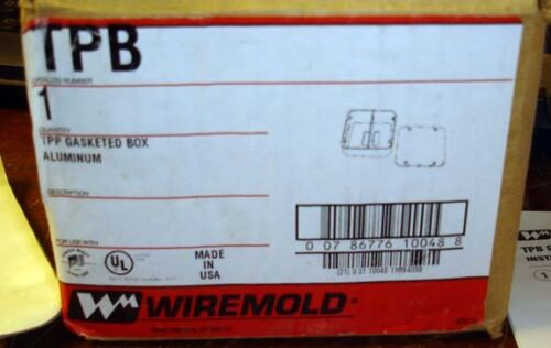 SURPLUS NIB WIREMOLD TPB TPP GASKETED BOX GALVANIZED