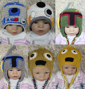 537d65a5481 New Star Wars Hat R2D2 Hat BB8 Hat C3PO Hat Knit Crochet Hat Baby ...