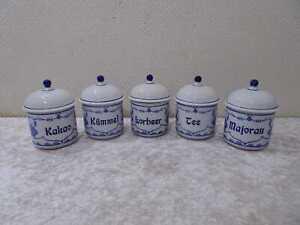 5 X de existencias lata RDA Design Kahla porcelana-Vintage-Zwiebelmuster - 12,5 cm