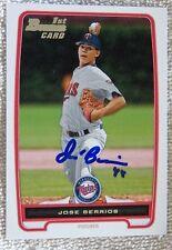 Minnesota Twins Jose J.O. Berrios Signed 2012 Bowman 1st Card Auto