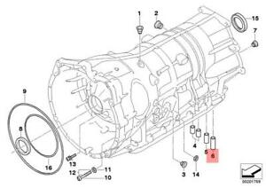 Genuine-BMW-E53-E60-E60N-E61-E63-Transmission-Valve-Body-Seal-OEM-24107520715