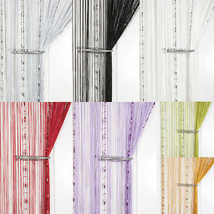 RUGIADA-GOCCIA-CON-PERLINE-CATENA-String-Curtain-SCREEN-amp-Room-Divider-VOILE-Net-pannelli