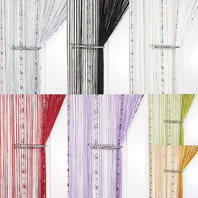 Rugiada Goccia Con Perline Catena String Curtain ~ Screen & Room Divider ~ Voile Net Pannelli-mostra Il Titolo Originale