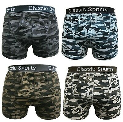 3 6 Packs Mens Classic Camouflage Army Cotton Camo Boxer Shorts Underwear