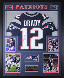 Details about Tom Brady Autographed & Framed Navy Patriots Jersey Auto Tristar COA D21-L