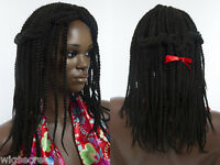 Kinky Twist Dreadlock Medium Curly Blonde Brunette Red Grey Wigs