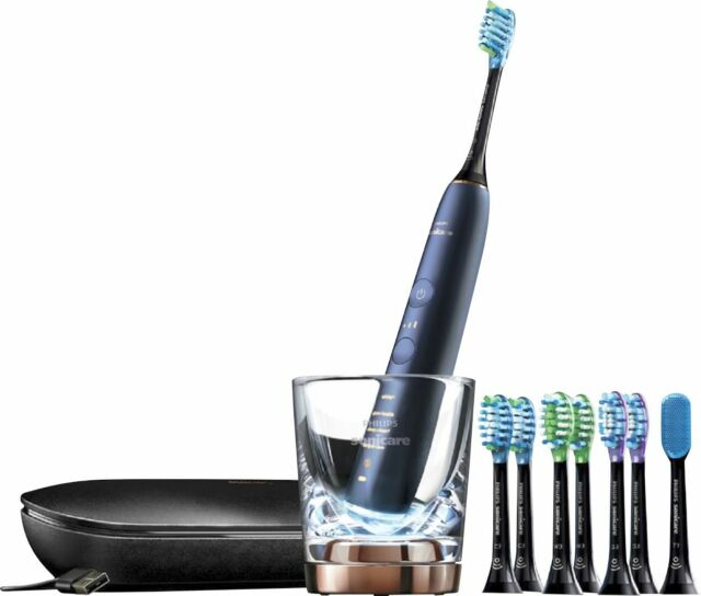 Philips Sonicare - DiamondClean Smart 9700 Rechargeable Toothbrush - Lunar Blue