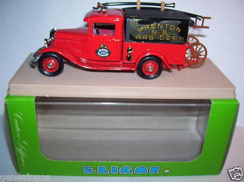ELIGOR FORD V8 1932 FIREFIGHTERS TRENTON FIRE DEPT 1 43 in box has