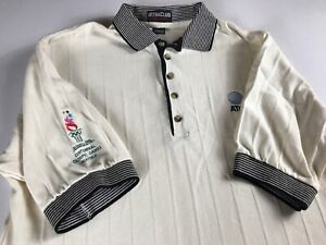 AT-amp-T-Olympic-Polo-Shirt-VTG-1996-Mens-SZ-M-L-Atlanta-Georgia-USA-Made-Centennial