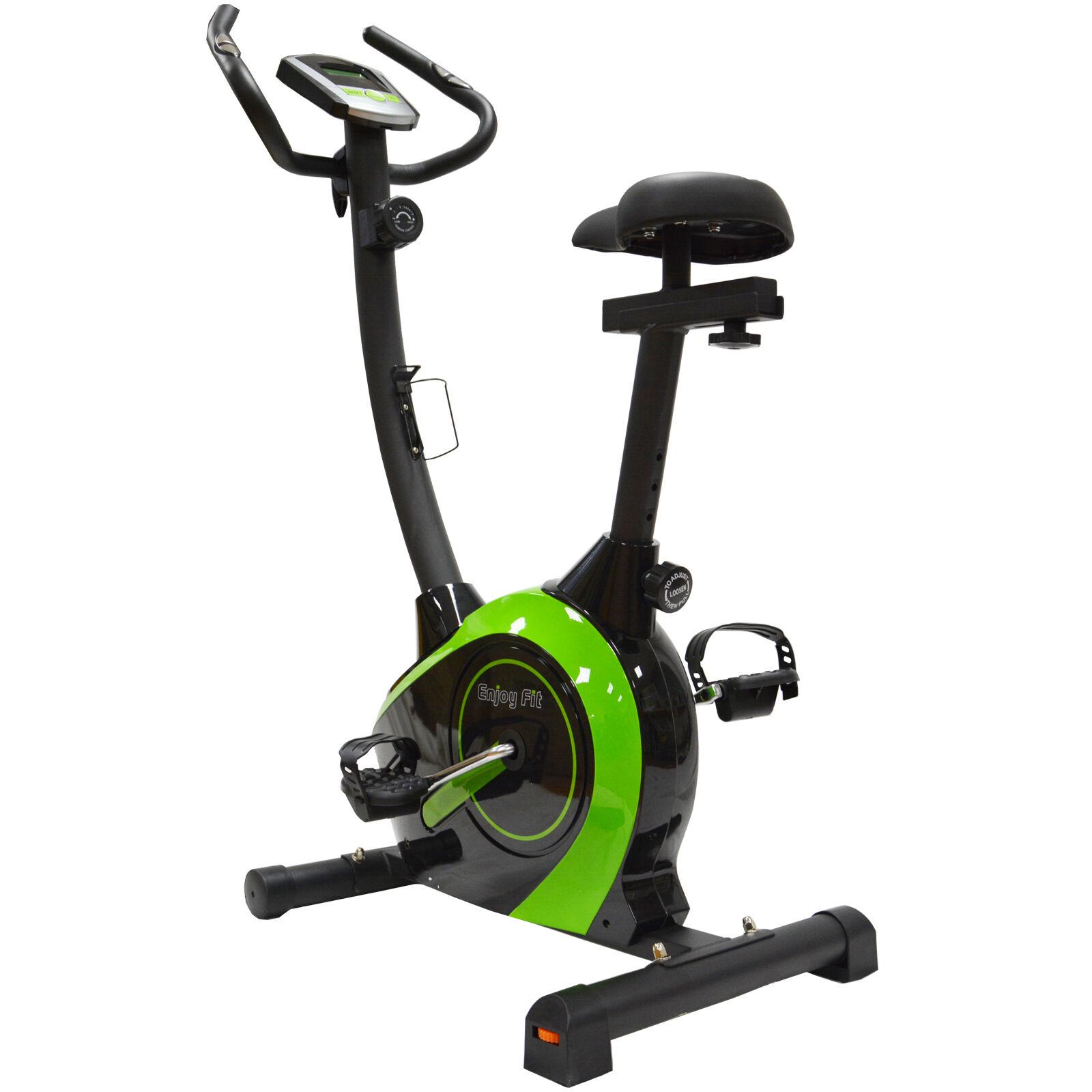 Enjoyfit Home Trainer Ergometer Exercise Bike Trainer with Hand Pulse Sensors
