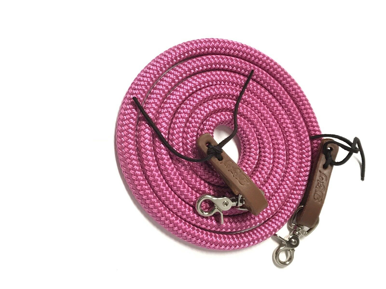 Fus a yacht rope reins  water loops fushia with trigger snaps  online cheap