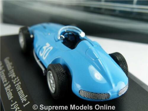 Gordini tipo 32 Coche Modelo 1:43 1956 IXO Atlas la saga de fórmula 1 GP Reims azul T3