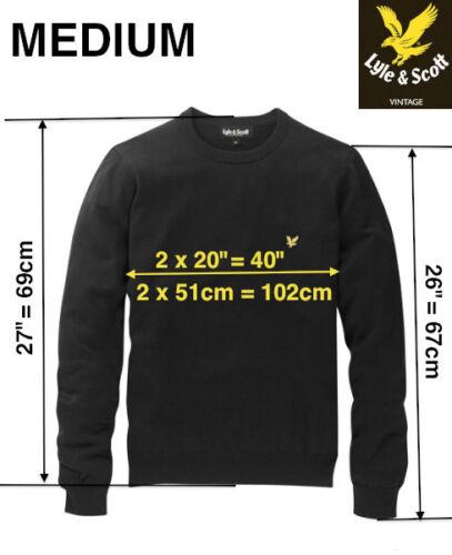 XXL XL Lyle and Scott 100/% cotton CREW neck BLACK jumper S M RRP £85 L
