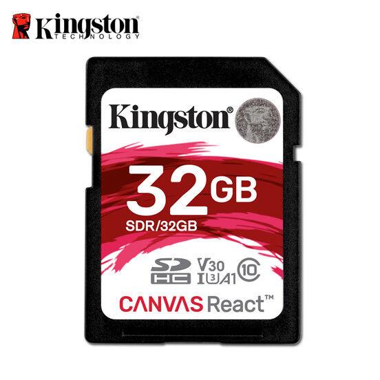 Kingston Canvas React 32 Go SDHC Carte Memoire UHS-1 U3 Caméra Vidéo Camcorder