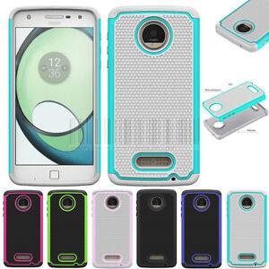 Antichoc-Hybride-etui-en-caoutchouc-dur-Housse-de-Telephone-pour-Motorola-Moto-Z-Play-Droid