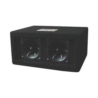 NEW (1) Dual Piezo Tweeter Speaker Cabinet Box Enclosure.2 Tweeters.100w.Car.CS