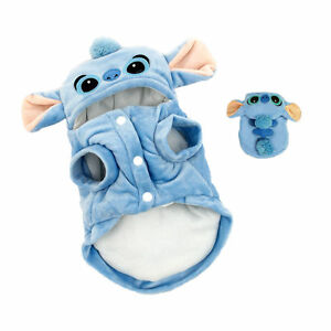 Cosplay stitch dog clothes halloween costumes warm puppy dog cute coat